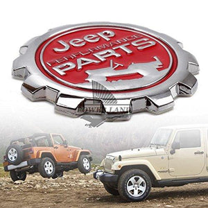 Performance Round Logo for car with two jeep car