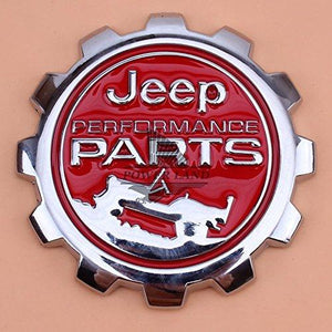 Performance Round Logo for car in red Colour
