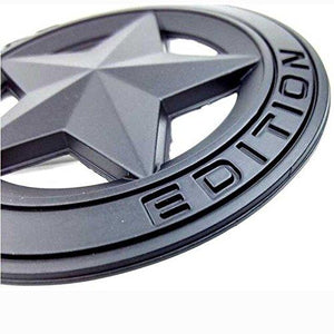 star edition logo for car in black colour