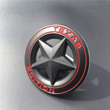 Load image into Gallery viewer, Texas Star Edition logo for jeep in black colour & Red alphabets