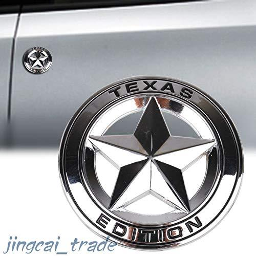 Texas Star Edition logo for jeep in Chrome Colour