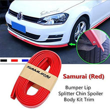 Load image into Gallery viewer, Bumper Lip Splitter Chin Spoiler Body kit trim in Red Colour