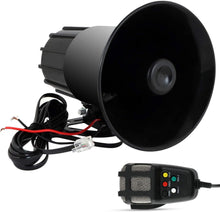 Load image into Gallery viewer, Black car Siren speaker with wire and mic