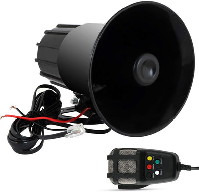 Black car Siren speaker with wire and mic