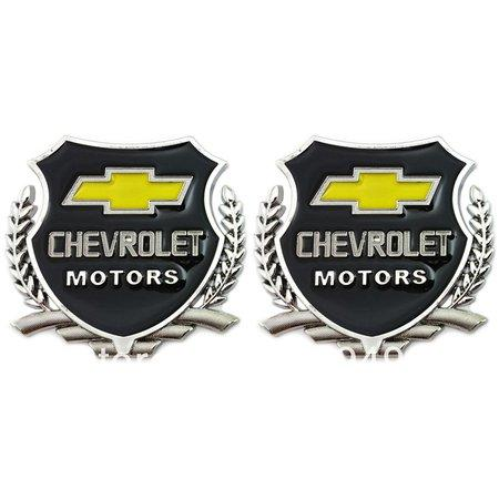Chevrolet motor logo in silver colour