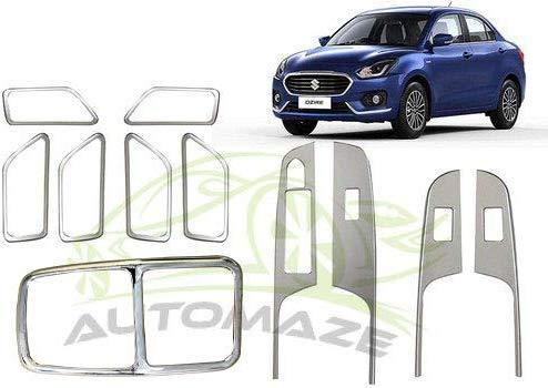11 Pcs Chrome Interior Kit For maruti suzuki Swift Dzire