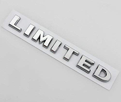 Limited Letter Logo Universal Chrome 3D Metal Emblem Badge Decal Sticker for All Cars, Chrome Color