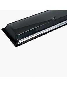 black door visor for car