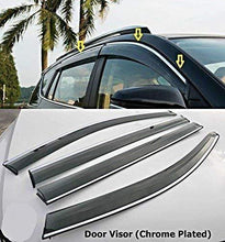 Load image into Gallery viewer, Car Door visor in chrome plated for honda city