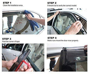 How to install car door visor in Honda Jazz