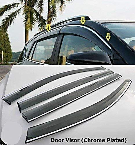 Car Door visor in chrome plated for Honda Jazz