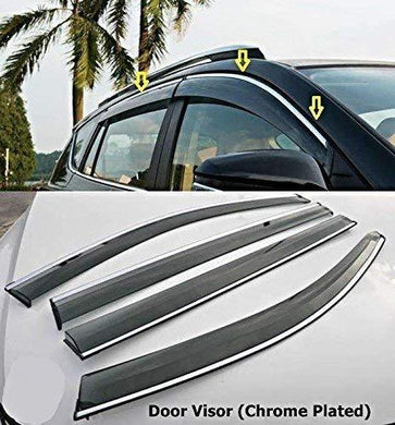 Car Door visor in chrome plated for scorpio