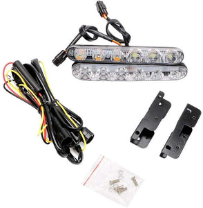 DRL 6Led Light with wire & Clip for all cars