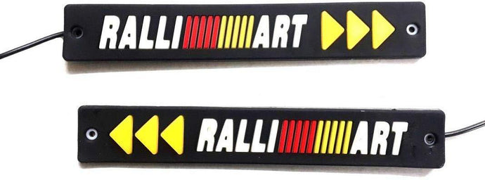 Ralliart drl logo with turn indicator for all cars