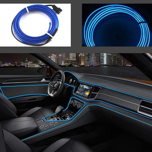 El Light for Car in blue Colour with installation