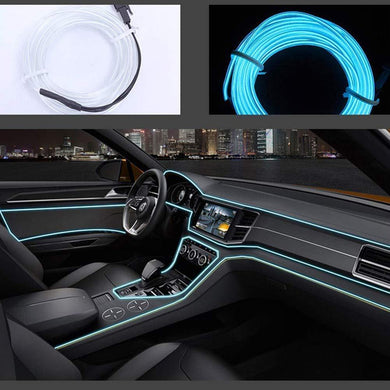 El Light for Car in ice blue Colour with installation