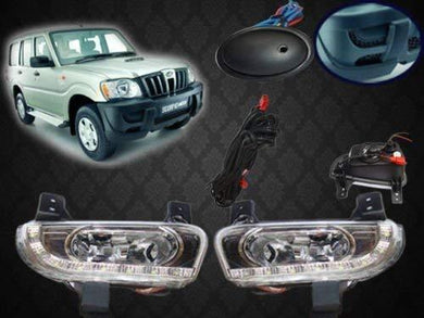 2pcs Fog DRL Light for mahindra scorpio