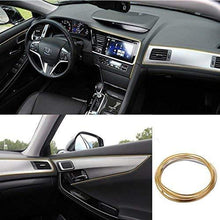 Load image into Gallery viewer, Car Dashboard with gold interior beading