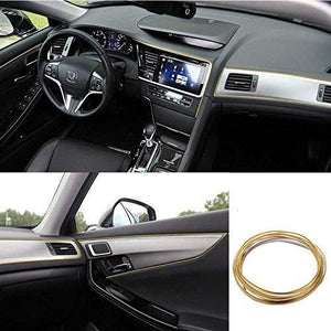 Car Dashboard with gold interior beading