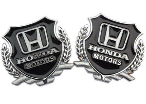 Honda Motor logo pair in silver colour