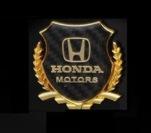 Load image into Gallery viewer, Honda Motor logo in golden colour