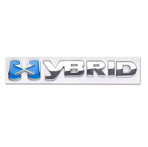Chrome hybrid logo for all cars