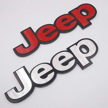 Load image into Gallery viewer, jeep car logo in red & silver colour