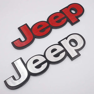 jeep car logo in red & silver colour