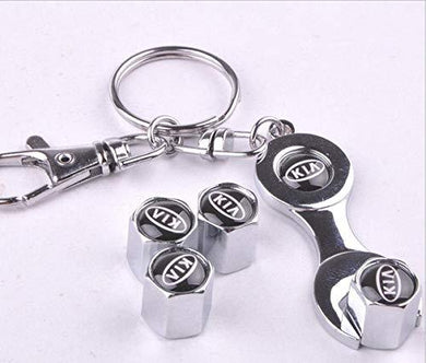 Kia Tyre valve cap in chrome colour for all car