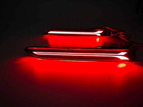 Red colour led reflector for toyota innova 2012 to 2015 model