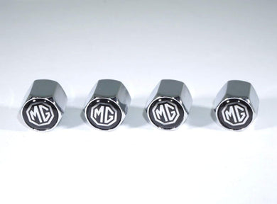 Chrome tyre valve cap for all mg cars