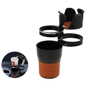 Multi cup holder in brown and black colour for car