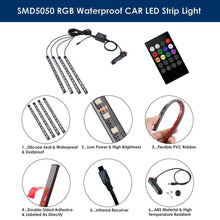 Load image into Gallery viewer, SMD5050 RGB Waterproof Car LED Strip Light details
