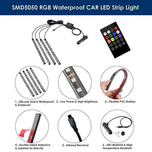 SMD5050 RGB Waterproof Car LED Strip Light details