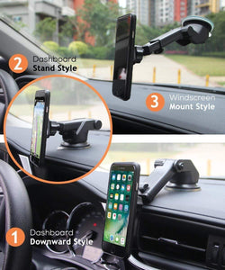 Multiple style uses for phone holder stand with mobile for car