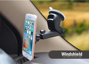 Windshield cup offers powerful grip for mobile