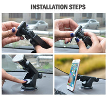 Load image into Gallery viewer, Installation step for car phone holder stand