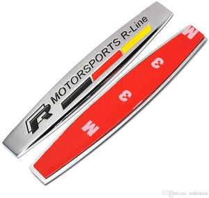 R-Line Motorsport logo with 3m tape for car in Chrome colour