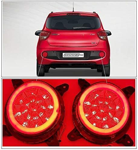 Red Grand i10 with pair of Reflector brake light