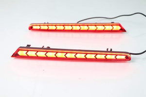 ON Pair of reflector brake light for hyundai santro