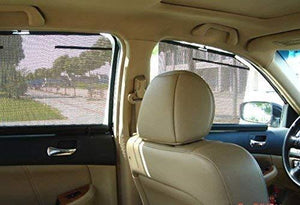 Installed Side Window Automatic Roller Sun Shades for Honda City 2011 to 2014