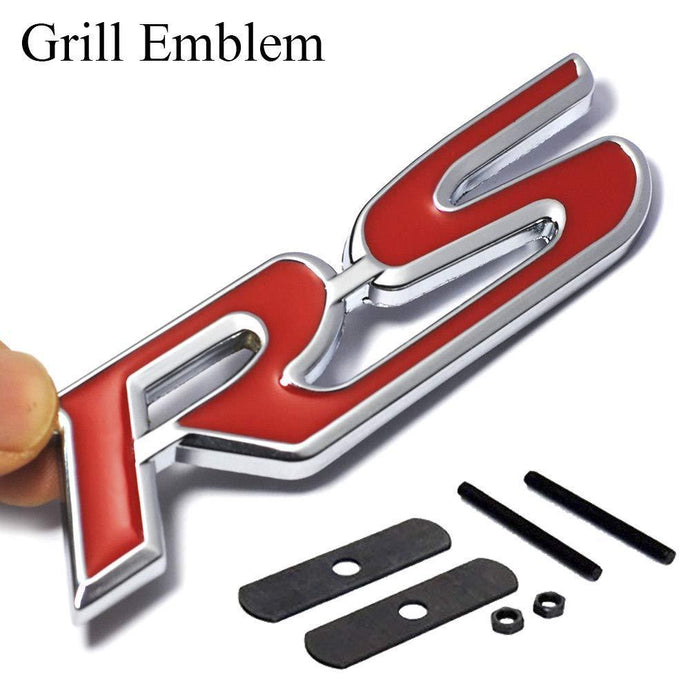 Grill Emblem RS Logo Sticker for all cars