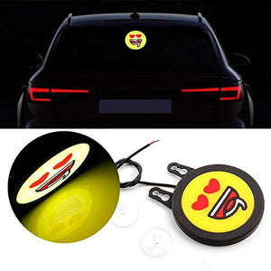 Smiley Drl in heart face with suction cup for all cars