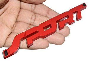 3D Sport logo in red colour