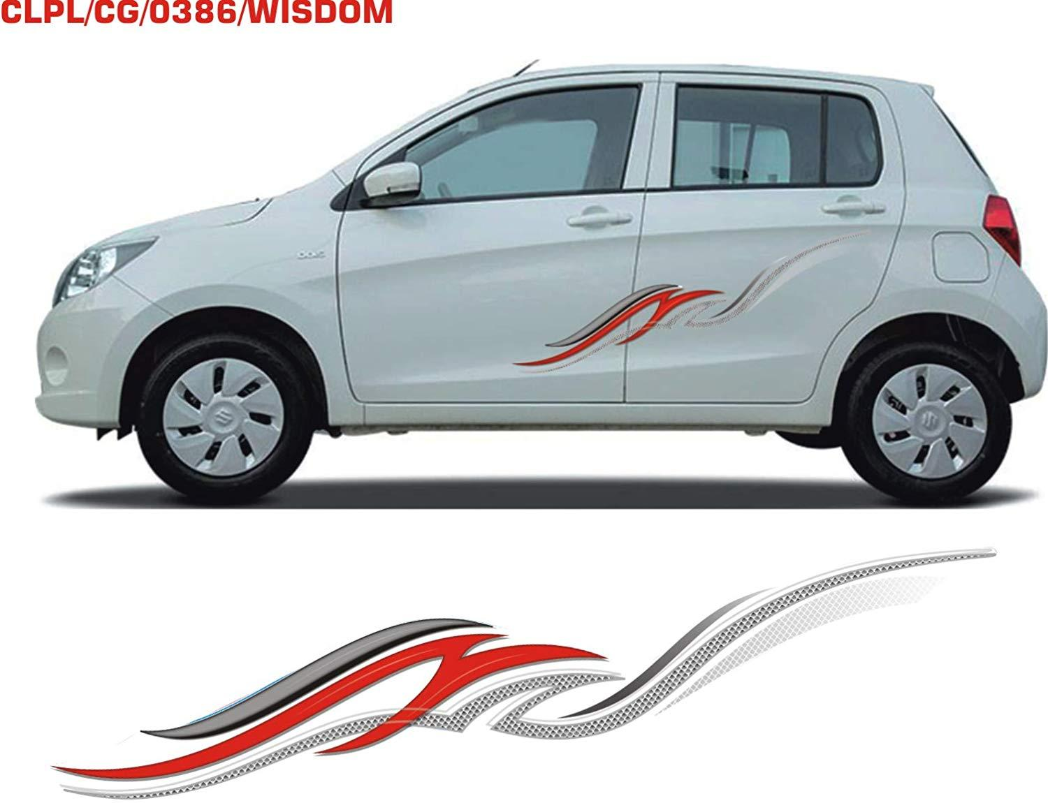 Car Body Stickers Graphics For Car Universal Design In Multi Colour With Both Sides Stickers Automaze