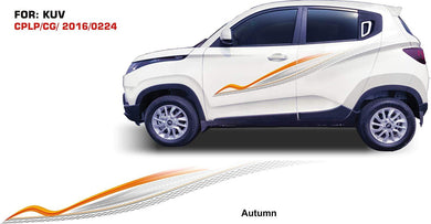 Graphics sticker for Mahindra Kuv 100