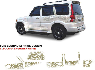 Graphics sticker for mahindra scorpio hawk