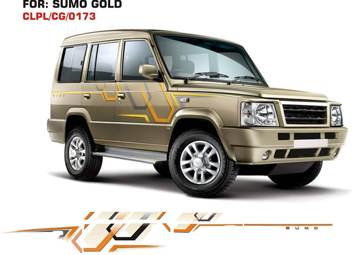 Graphics sticker for tata sumo gold
