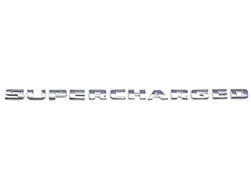 Chrome Supercharged logo for all car