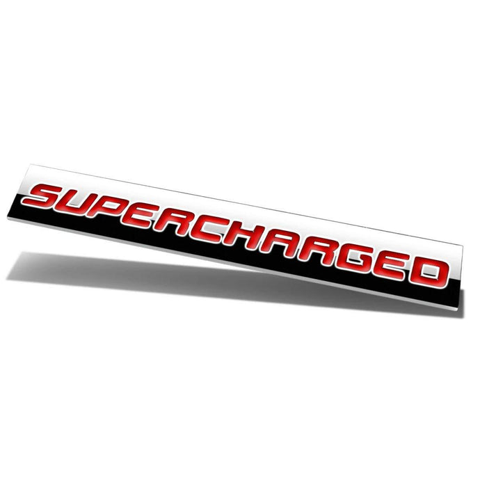 Red Supercharged logo for all car